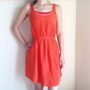 Bright orange distressed dress from club monaco